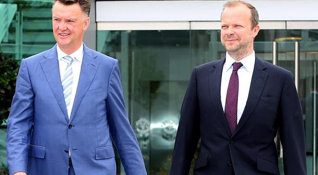 Ed Woodward (right) and Louis van Gaal