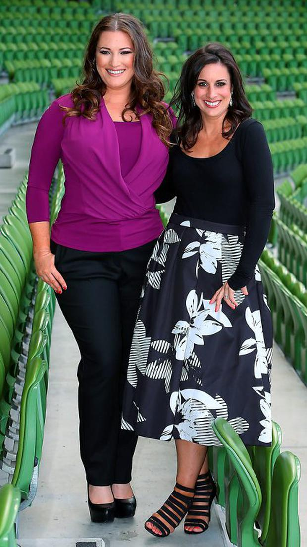 Elaine Crowley and Lucy Kennedy at the TV3 Autumn Schedule launch Picture: Brian McEvoy