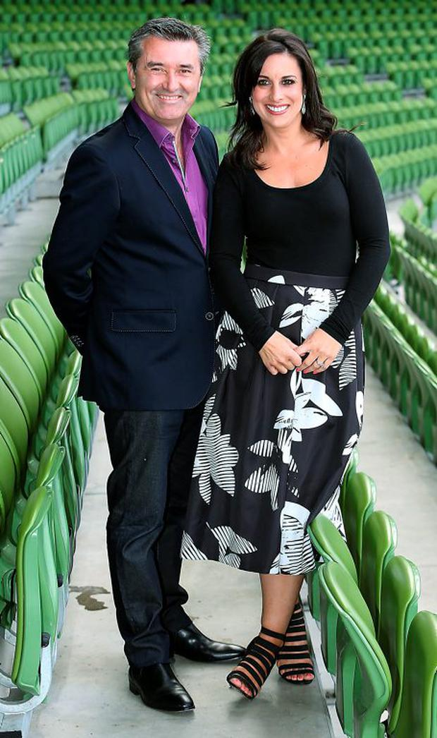 Martin KIng and Lucy Kennedy at the TV3 Autumn Schedule launch. Picture: Brian McEvoy