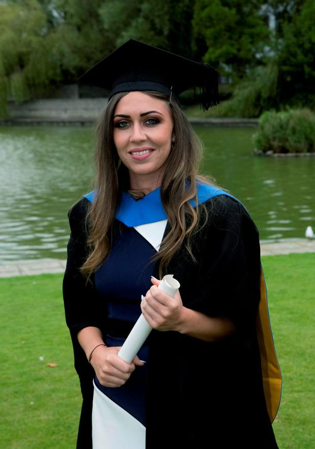 Jessica McGurk, who was conferred with a Honours Degree of Bachelor of Arts from UCD. Picture: Colm Mahady/Fennells