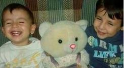 The smiling faces of Alyan (3) and Galip (5), the two brothers who drown while trying to reach Europe with their mother