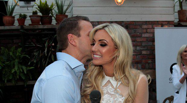 Rosanna Davison pictured with husband Wesley Quirke at the launch of Rosanna Davisons book