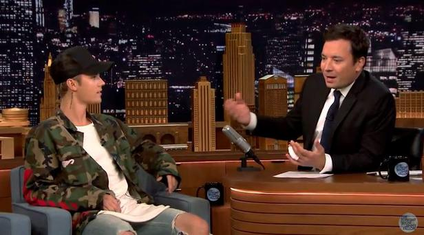 Justin Bieber on The Tonight Show with Jimmy Fallon