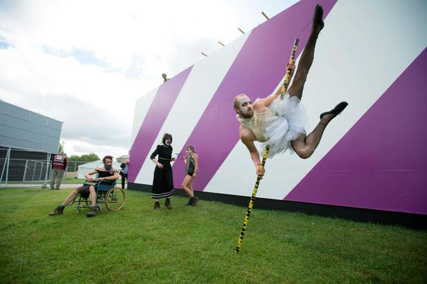 Guerilla Aerial performing at the 3Penthouse Garden at the Electric Picnic Pres Day, 01_09_2015. Picture: Alf Harvey/HRPhoto.ie NO REPRODUCTION FEE