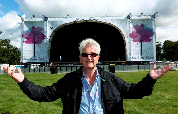 01/09/15 Melvin Benn festival director pictured this afternoon at a preview of the Electric Picnic 2015, which takes place in Stradbally from next Friday to Sunday. Picture Colin Keegan, Collins Dublin.