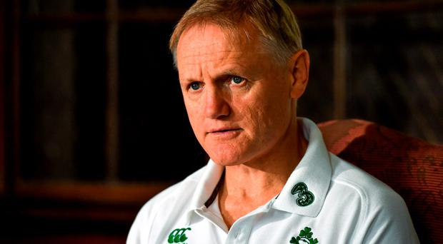 3 August 2015; Ireland head coach Joe Schmidt during a press conference. Ireland Rugby Press Conference, Carton House, Maynooth, Co. Kildare. Picture credit: Matt Browne / SPORTSFILE
