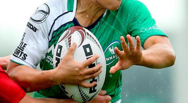 Connacht Ladies star Sene Naoupu on the charge against Munster