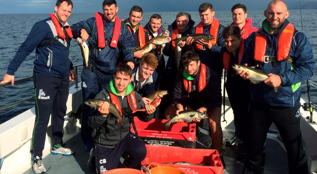Connacht players fishing off the coast of Mayo during some down-time last week as part of a five-day training camp in Belmullet, Co Mayo