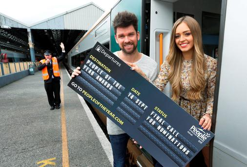 Eoghan McDermott and TV personality Diana Bunici urged members of the public to get their favourite names in on time