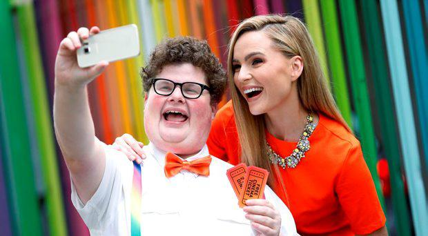 """The World's Greatest Extra and Hollywood's go-to-guy Jesse Heiman, pictured here with Sarah Morrissey launching Meteor's brand new loyalty programme"