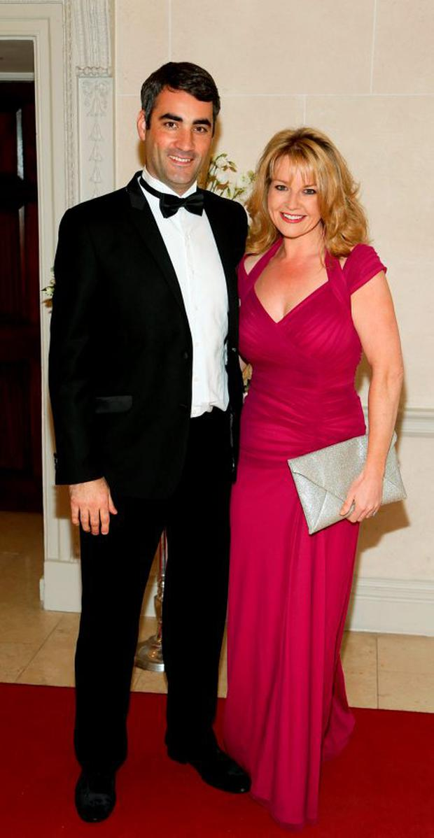 Gerry Scollan and Claire Byrne at the 3rd Annual Bloomsday Ball in aid of National Maternity Hospital Holles Street