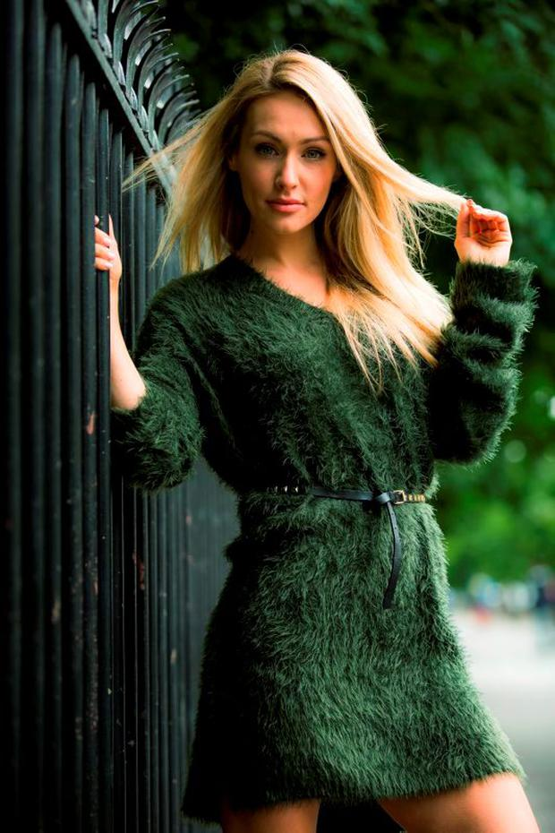 Maeve Madden wears a jumper dress for €12.99