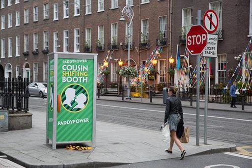The 'cousin shifting booth' onm Harcourt Street