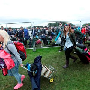Fans pictured arriving to Electric Picnic in Stradballly this afternoon