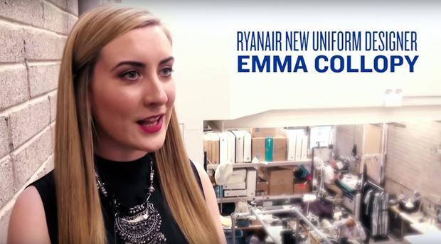 Emma Collopy. Screengrab: Ryanair/YouTube