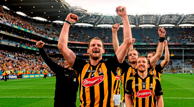 Jackie Tyrrell is one of Kilkenny's elder statesmen, however, they haven't yet missed the likes of JJ Delaney (background)