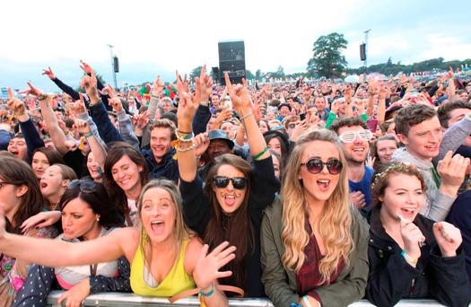 Fans pictured at The Coronas at Electric Picnic in Stradballly this eveningPic Stephen Collins/Collins Photos