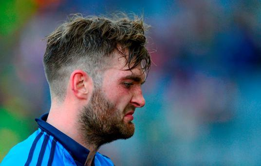 5 September 2015; Mayo's Aidan O'Shea dejected after the game. GAA Football All-Ireland Senior Championship Semi-Final Replay, Dublin v Mayo. Croke Park, Dublin. Picture credit: Piaras ? M?dheach / SPORTSFILE