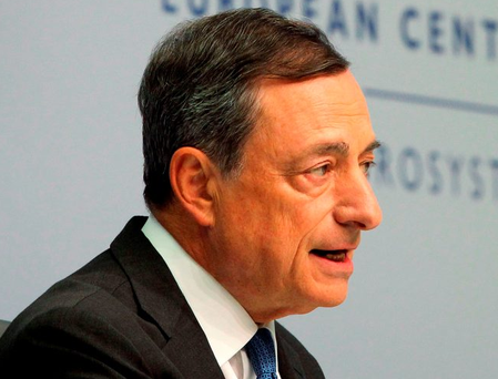 Mario Draghi's move to revamp his quantitative-easing plan sent the Euro dropping to a two week low