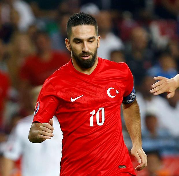 Turkey's Arda Turan helped his side move into third place in their group for the Euro 2016 qualifiers