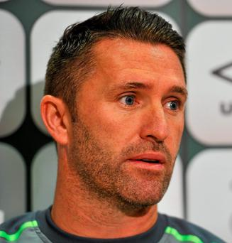 Robbie Keane: wants Ireland to go for it from the kick-off
