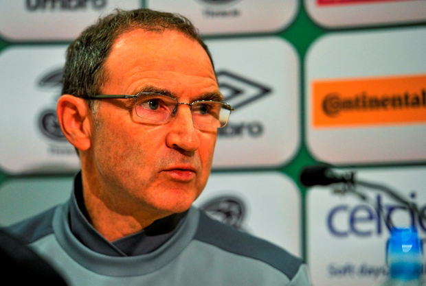 6 September 2015; Republic of Ireland manager Martin O'Neill during a press conference. Abbotstown, Co. Dublin. Picture credit: Sam Barnes / SPORTSFILE