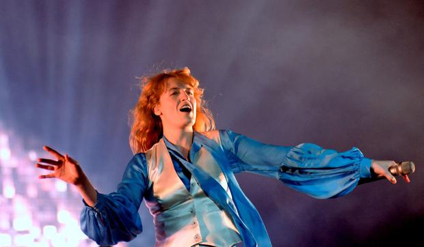 6 Sept 2015; Florence and the Machine performing on main stage. Electric Picnic - Sunday. Stradbally, Co. Laois. Picture: Caroline Quinn
