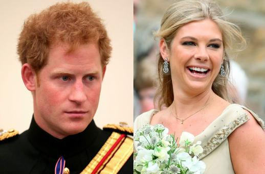 Prince Harry (left) and ex Chelsy Davy (right)