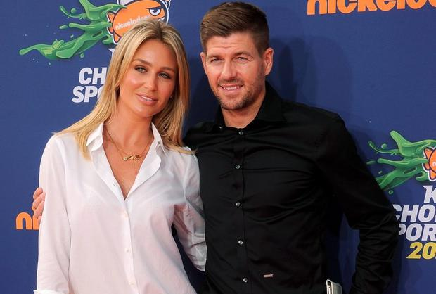 Soccer player Steven Gerrard and wife Alex Gerrard arrive at the Nickelodeon Kids' Choice Sports Awards 2015 at UCLA's Pauley Pavilion on July 16, 2015 in Westwood, California. (Photo by Gregg DeGuire/WireImage)