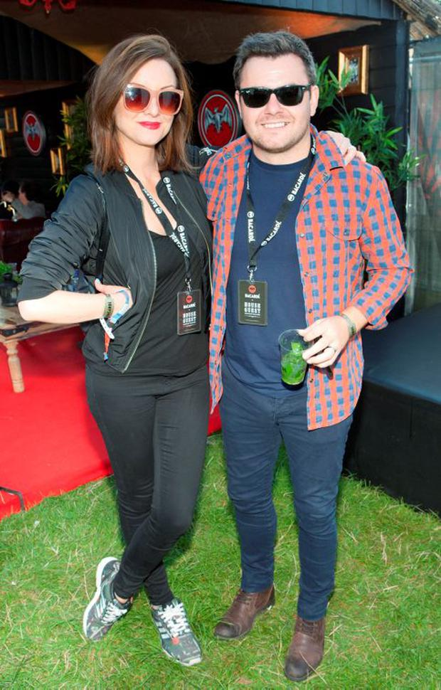 Jennifer Maguire and Laurence Kinlan enjoying the Casa Bacardi Area at Electric Picnic