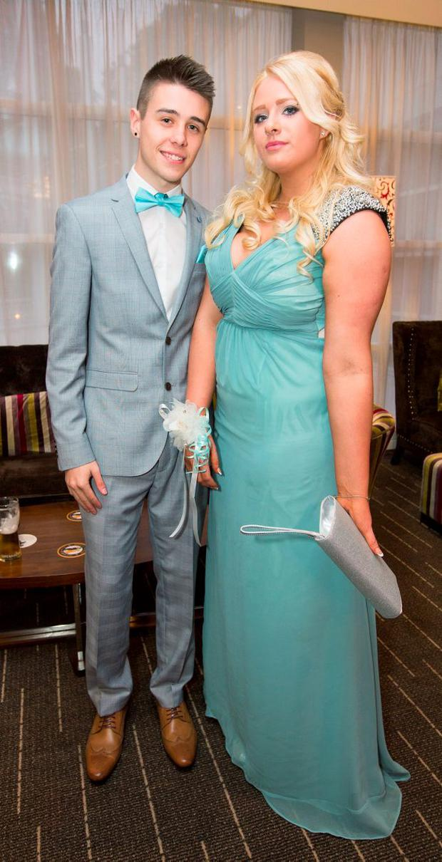 Pictured at The St. Mary's Glasnevin Debs Ball at Dunboyne Castle were; Chloe Dobbyn (18) Dress Code with Lee Dempsey (20) Burton