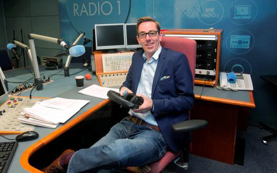 Presenter Ryan Tubridy in his radio studio for the new Ryan Tubridy Show on RTE Radio 1 at RTE, Donnybrook, Dublin. Photo: Gareth Chaney Collins