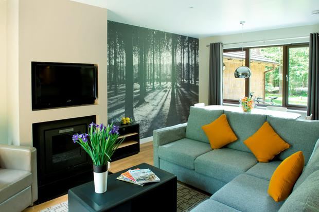 Center Parcs - Lounge inside Woodland Lodge at Woburn Forest