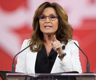 Former Republican vice presidential nominee Sarah Palin