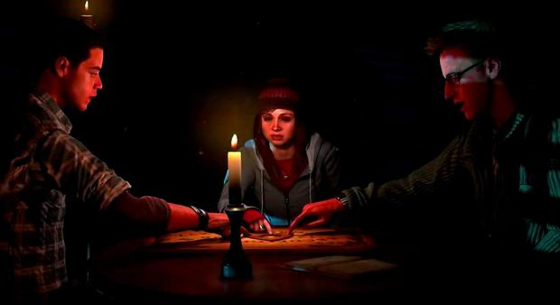 Until Dawn: Inevitably, a ouija board makes an appearance at one stage