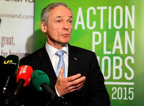 Jobs Minister Richard Bruton said consistent growth in exports is driving a strong employment recovery.