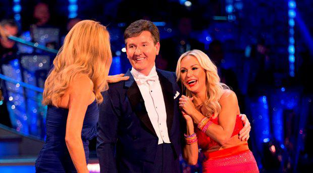 Host Tess Daly, Daniel O'Donnell and his dance partner Kristina Rihanoff