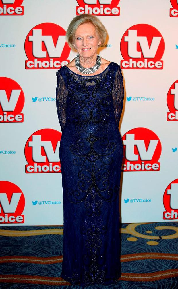 Mary Berry attends the TV Choice Awards 2015 at Hilton Park Lane on September 7, 2015 in London, England. (Photo by Chris Jackson/Getty Images)