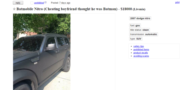 The ad on Craigslist