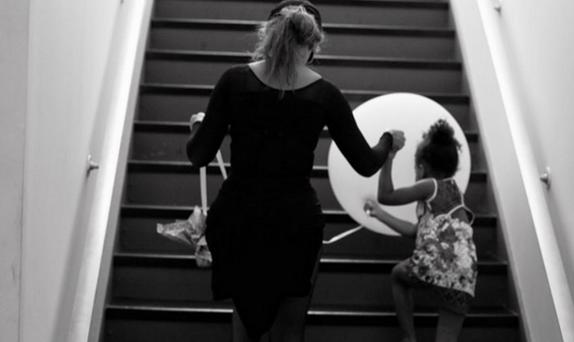 Beyonce and Blue Ivy at rehearsals. Picture: Instagram