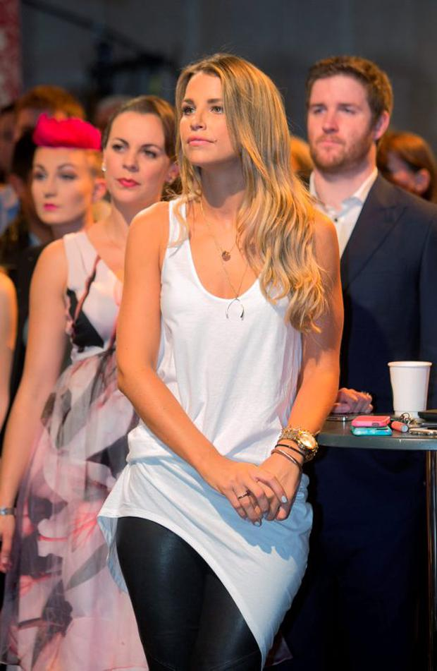 Vogue Williams during an announcement of a new season of programmes on RTE 2 at RTE studios Donnybrook, Dublin. Photo: Gareth Chaney/Collins