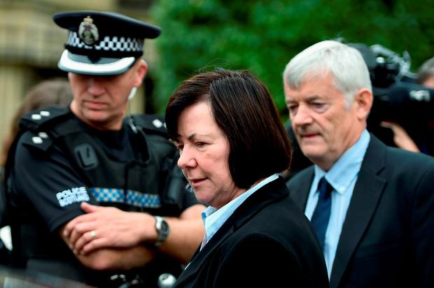 John and Marian Buckley leave Glasgow High Court following the sentencing