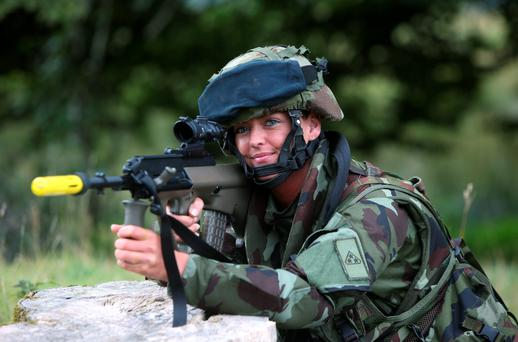 Gunner Charlene Bailey, from Cork who will join members of the 50th Infantry Group. Photos: Damien Eagers
