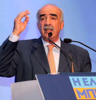 Evangelos Meimarakis is the leader of New Democracy