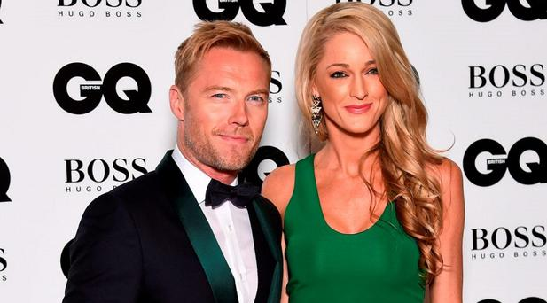 Ronan Keating and Storm Uechtritz attend the GQ Men Of The Year Awards at The Royal Opera House on September 8, 2015 in London, England. (Photo by Gareth Cattermole/Getty Images)