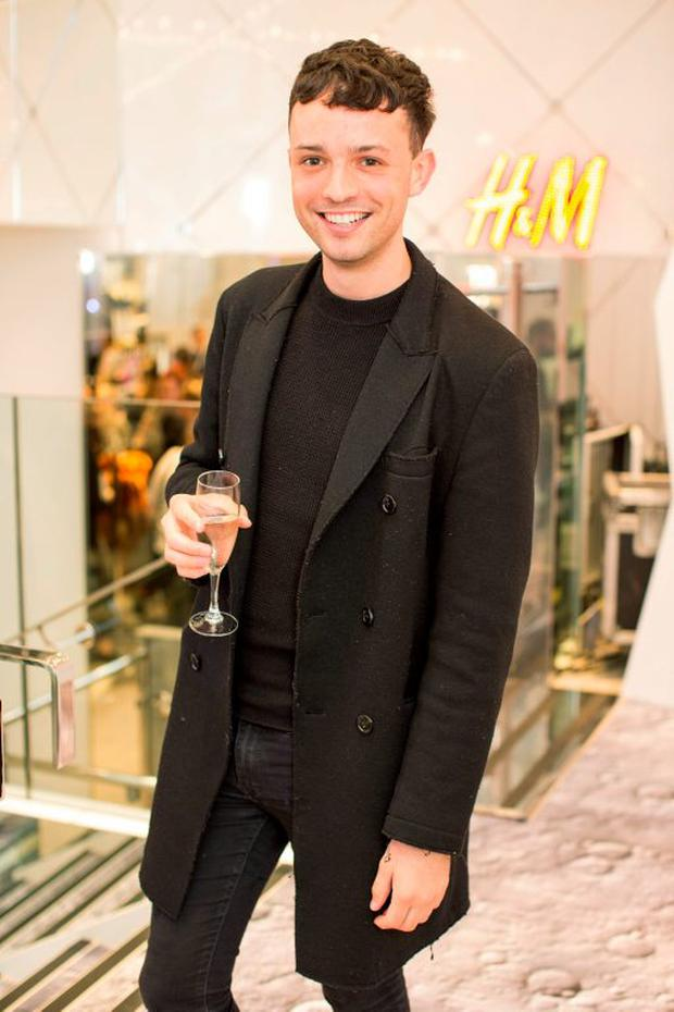 James Kavanagh at the H&M Studio AW 15 pre launch shopping event at the College Green Store, Dublin. Photo: Anthony Woods.