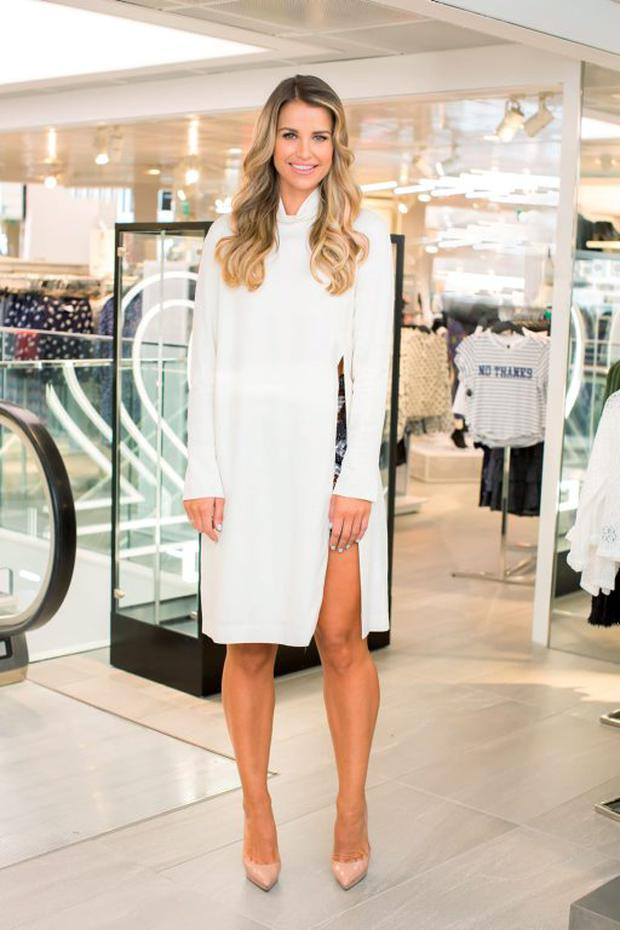 Vogue Williams at the H&M Studio AW 15 pre launch shopping event at the College Green Store, Dublin. Photo: Anthony Woods.