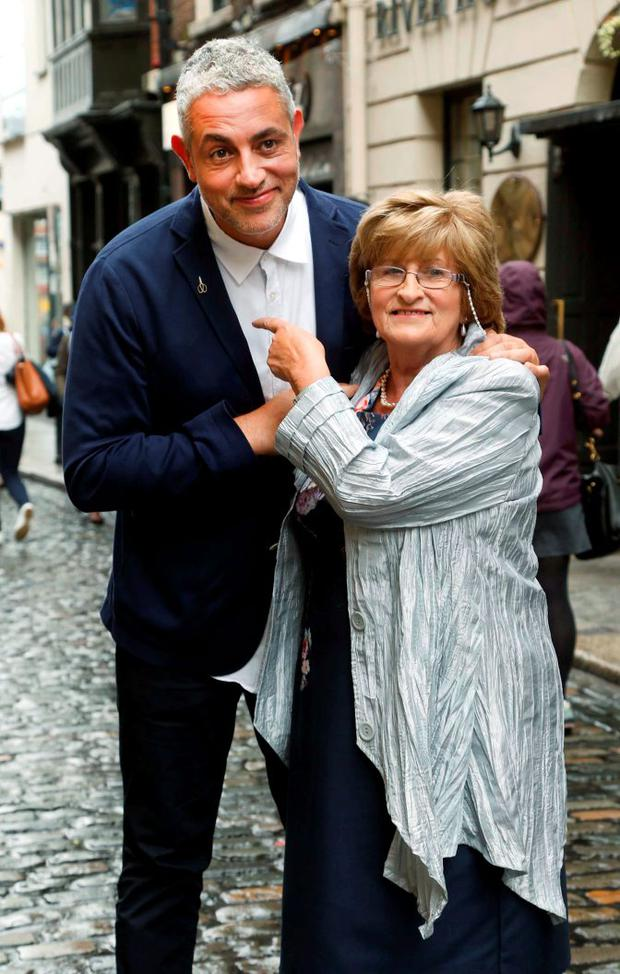 Baz and Nancy Ashmawy pictured in the IFI, Dublin at the premiere of 50 Ways to Kill Your Mammy Season 2. Picture: Robbie Reynolds