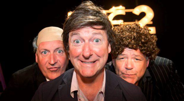Members of Apres Match Barry Murphy, Risteard Cooper & Gary Cooke during an announcement of a new season of programmes on RTE 2 at RTE studios Donnybrook, Dublin. Photo: Gareth Chaney Collins