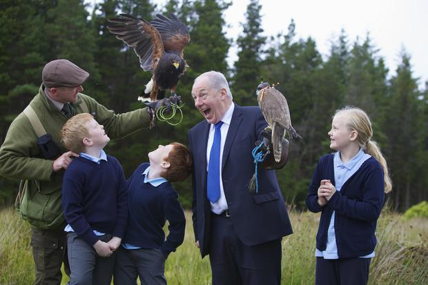 Minister Michael Ring at the launch of Wild Nephin's new visitor facilities. Photo: Eamonn O'Boyle